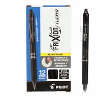 Frixion Clicker Gel Pen Fine Point 12/pkg Black .07mm
