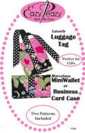 Luverly Luggage Tag, Marvelous Mini Wallet or Business Card Case