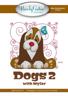 Mylar Embroidery CD Designs Dogs 2