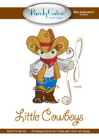 Mylar Embroidery CD Designs Little Cowboys