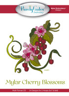 Mylar Embroidery CD Designs Mylar Cherry Blossoms