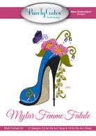 Mylar Embroidery CD Designs Mylar Femme Fatale