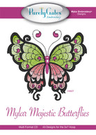 Mylar Embroidery CD Designs Mylar Majestic Butterflies