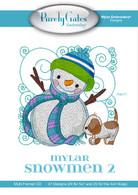 Mylar Embroidery CD Designs Mylar Snowmen 2