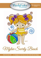 Mylar Embroidery CD Designs Mylar Swirly Beach