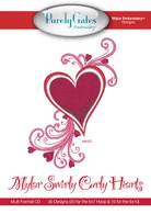 Mylar Embroidery CD Designs Mylar Swirly Curly Hearts