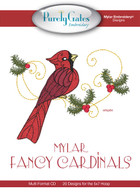 Mylar Embroidery CD Designs Mylar Fancy Cardinals