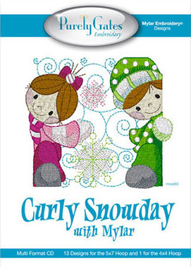 Mylar Embroidery Curly Snowday