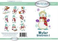 Mylar Embroidery Snowmen 1