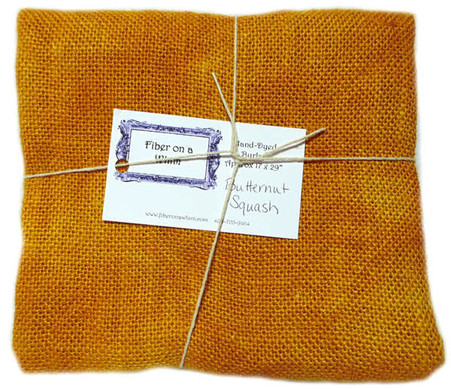 Hand Dyed Burlap Fat Quarter Butternut Squash