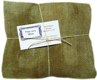 Hand Dyed Burlap Fat Quarter Evergreen