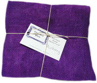 Hand Dyed Burlap Fat Quarter Mulberry
