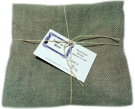 Hand Dyed Burlap Fat Quarter Silver Fox