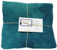 Hand Dyed Burlap Fat Quarter Ocean Blue