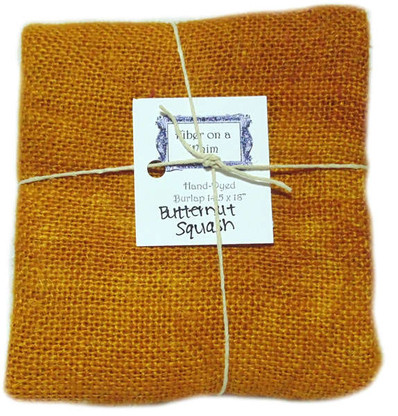 Hand Dyed Burlap Small Butternut Squash
