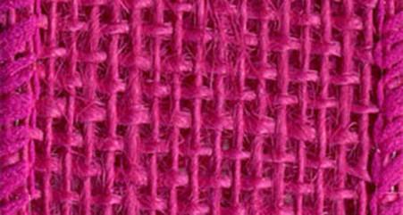 Burlap Wired Ribbon 1-1/2in x 10yd Hot Fuchsia