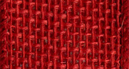 Burlap Wired Ribbon 2-1/2in x 10yd Rose Red