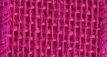 Burlap Wired Ribbon 2-1/2in x 10yd Hot Fuchsia