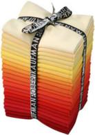 Fat Quarter Kona Cotton Solids Burning Up Colorway 22pcs