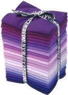 Fat Quarter Kona Cotton Solids Field of Iris Colorway 22pcs