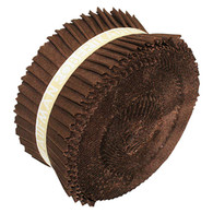 Roll Up Kona Solids Coffee Color 40pcs 2-1/2in Strips