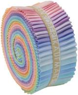 Roll Up Kona Cotton Solids Pastel Palette 41pcs