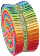 Roll Up Kona Cotton Solids Bright Palette 41pcs