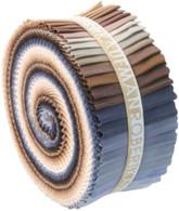 Roll Up Kona Cotton Solids Neutrals Palette 41pcs