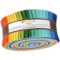 Roll Up Kona Solids Summer Colorway 40pcs