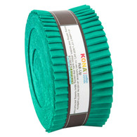 Roll Up Kona Solids Bluegrass Color 40pcs 2-1/2in Strips