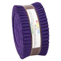 Roll Up Kona Solids Purple Color 40pcs 2-1/2in Strips