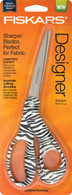 Fiskars Scissors 8in Bent Zebra