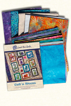 Cat's Meow Fabric Kit - Premium Sewing Outlet : lunch box quilts cats meow - Adamdwight.com