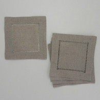 Oatmeal Linen Cocktail Napkins 6in x 6in 12/pkg