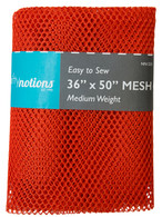 Mesh Fabric Medium Weight 36in x 50in Orange