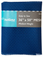 Mesh Fabric Medium Weight 36in x 50in Royal Blue