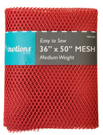 Mesh Fabric Medium Weight 36in x 50in Red