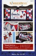 America Land That I Love Bench Pillow Pattern