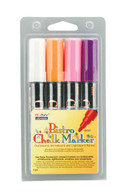 Flourescent Bistro Chalk Marker Broad Point Set of 4