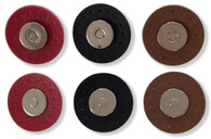 Silver Magnetic Snaps 9/16in with Leather Like Trim 1-3/16in Red