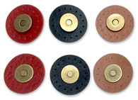 Antique Gold Magnetic Snaps 9/16in with Leather Like Trim 1-3/16in Brown