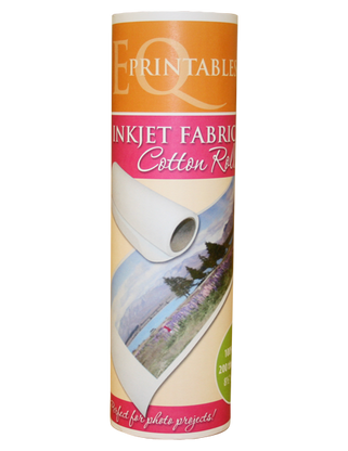 EQ Printables Inkjet Fabric Roll 8-1/2in x 120in