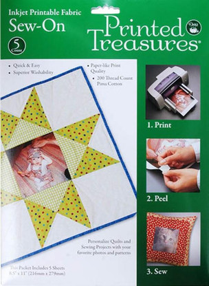 Printed Treasures Printer Fabric Sheets White