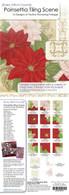 Poinsettia Tiling Scene Design CD