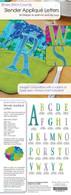 Slender Applique Letters Design CD