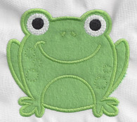 Cute Frog Applique Machine Embroidery Design