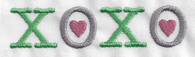 XOXO with Hearts