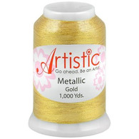 Janome Artistic Gold Metallic Thread 1000 Yards