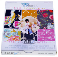 Aurifil 10 Small 50wt and Aurifloss Spools by Bari J Premium Cotton Collection