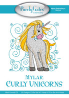 Mylar Curly Unicorns CD